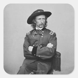 General George Custer 1 Square Sticker