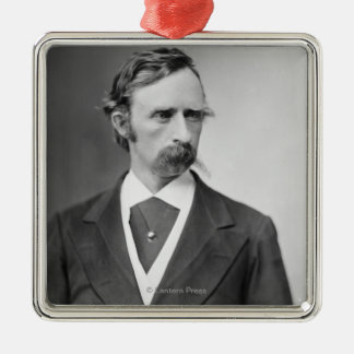 General George Custer Silver-Colored Square Decoration