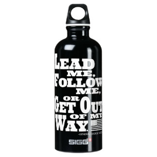 General George Patton Quote Traveller Water Bottle