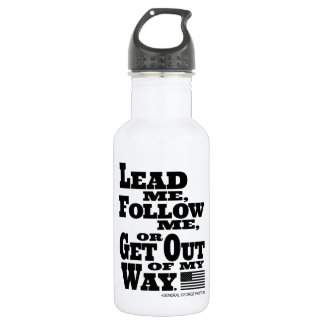 General George Patton Quote Water Bottle