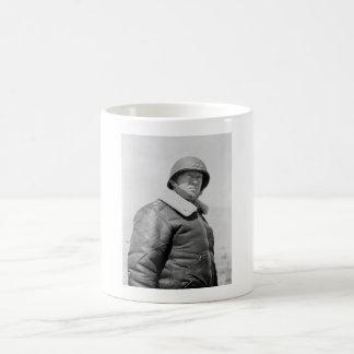 General George Patton - WWII Photo Basic White Mug