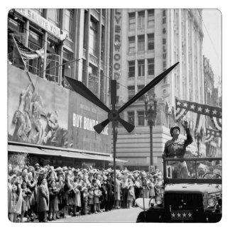 General George S. Patton acknowledging_War image Clock