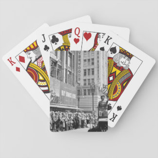 General George S. Patton acknowledging_War image Deck Of Cards