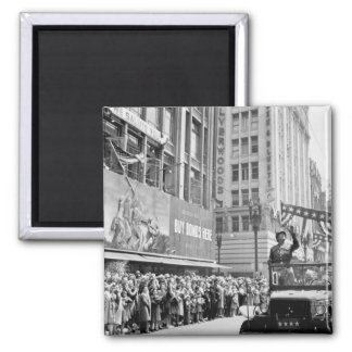 General George S. Patton acknowledging_War image Square Magnet