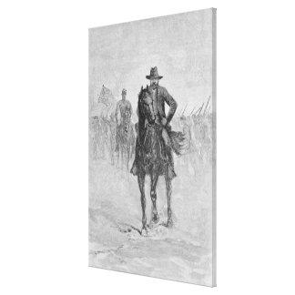 General Grant reconnoitering Canvas Prints