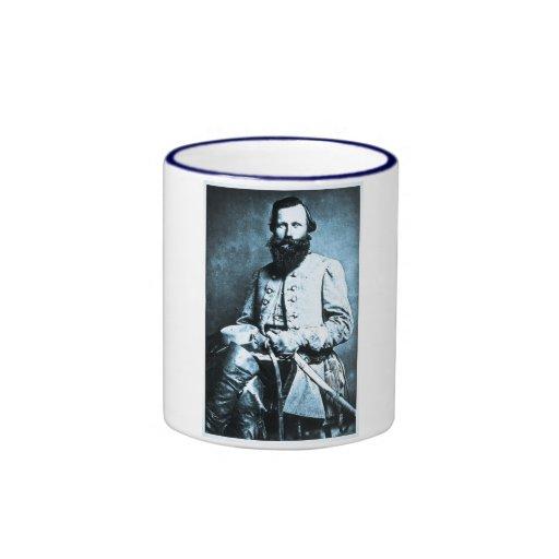 General J.E.B. Stuart Confederate Hero Coffee Mugs