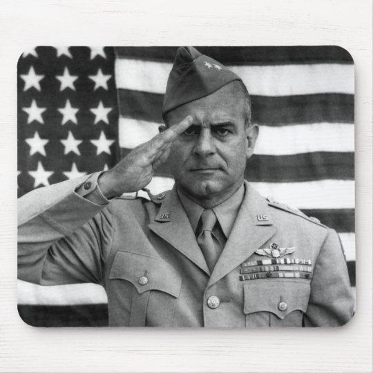 General James Doolittle Saluting -- WW2 Mouse Mat