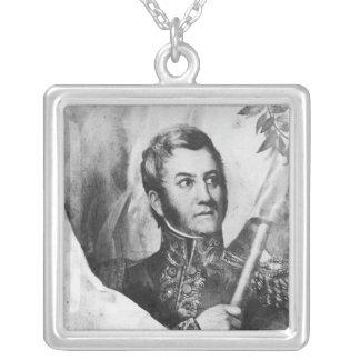 General Jose de San Martin Silver Plated Necklace
