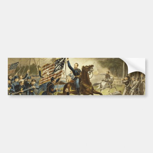 General Kearny's Charge in the Battle of Chantilly Bumper Sticker