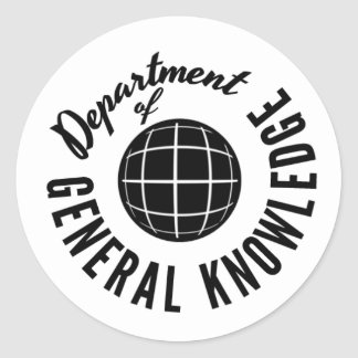 General Knowledge Dept. Stickers