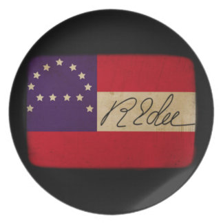 General Lee Headquarters Flag with Signature Dinner Plates
