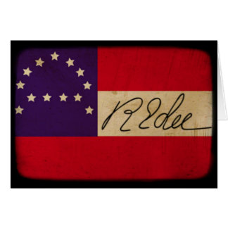 General Lee Headquarters Flag with Signature Greeting Card