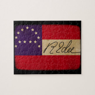 General Lee Headquarters Flag with Signature Jigsaw Puzzle