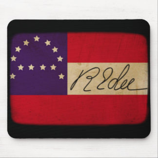 General Lee Headquarters Flag with Signature Mouse Pad