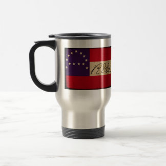 General Lee Headquarters Flag with Signature Stainless Steel Travel Mug