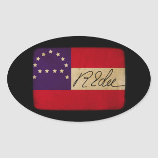 General Lee Headquarters Flag with Signature Oval Sticker
