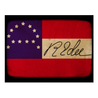 General Lee Headquarters Flag with Signature Postcard