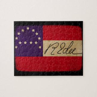 General Lee Headquarters Flag with Signature Puzzles