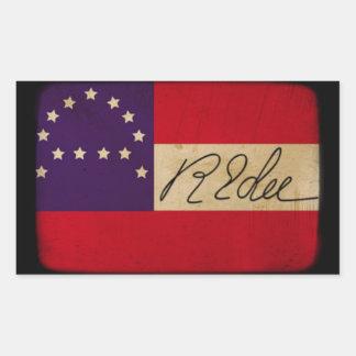 General Lee Headquarters Flag with Signature Rectangular Sticker