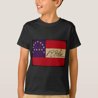 General Lee Headquarters Flag with Signature T Shirt
