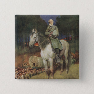 General Lee on his Famous Charger, 'Traveller' 15 Cm Square Badge