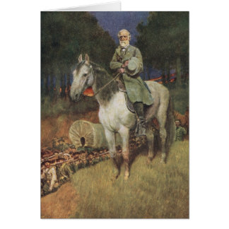 General Lee on his Famous Charger, 'Traveller' Greeting Card