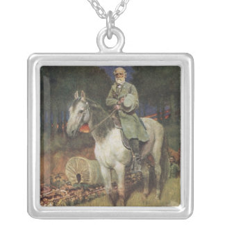 General Lee on his Famous Charger, 'Traveller' Silver Plated Necklace
