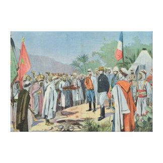 General Lyautey received surrender of rebel Canvas Print
