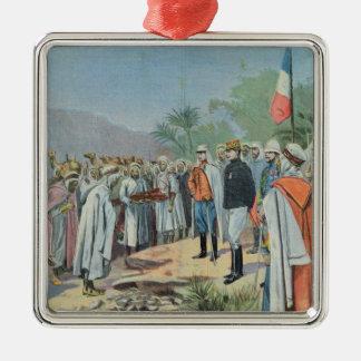 General Lyautey received surrender of rebel Christmas Ornament