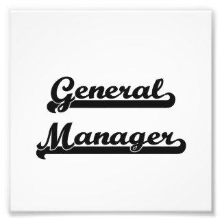 General Manager Classic Job Design Photo Art