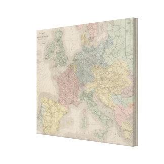 General map of European Railways Canvas Print