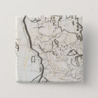 General Map of North America 15 Cm Square Badge