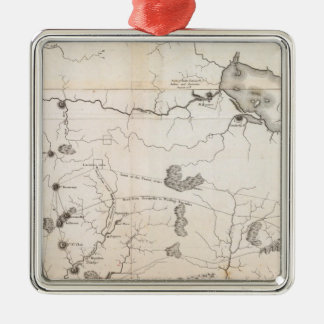 General Map of the Course of the Ohio Christmas Ornament