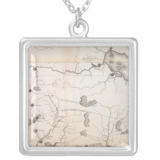 General Map of the Course of the Ohio Silver Plated Necklace