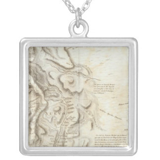 General map of the Kingdom of New Spain Silver Plated Necklace