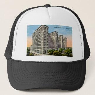 General Motors Building, Detroit, Michigan Trucker Hat