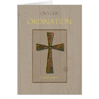 General Ordination Congratulations, Metal Cross Card