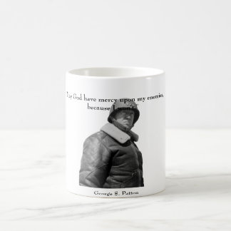 General Patton and quote Basic White Mug