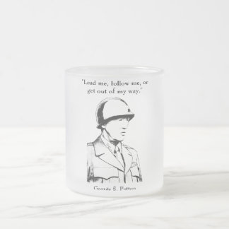 General Patton and quote Frosted Glass Mug