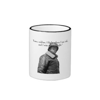 General Patton and quote Ringer Coffee Mug