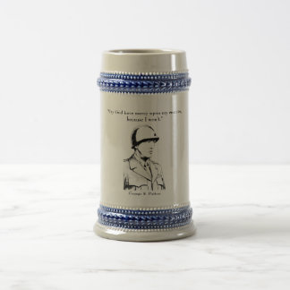 General Patton and quote 18 Oz Beer Stein