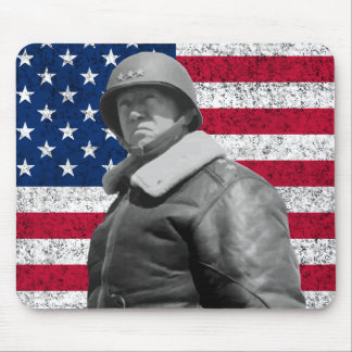 General Patton and the American Flag Mouse Pad