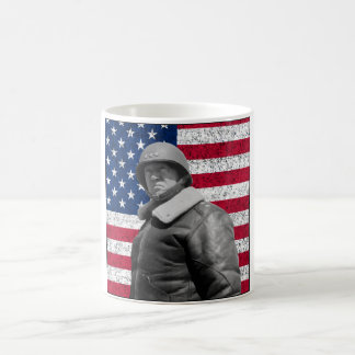 General Patton and The American Flag Basic White Mug