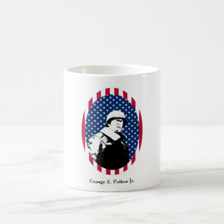 General Patton in American Flag Frame Mugs