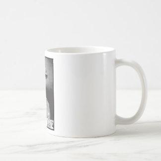 General Patton says Shut Up Hippie! Basic White Mug