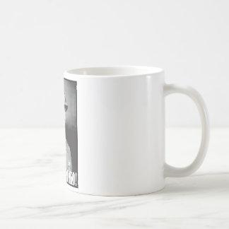 General Patton says Shut Up Pinko! Basic White Mug