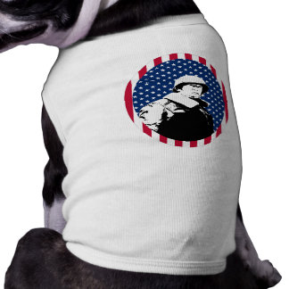 General Patton with American Flag Frame Doggie Shirt