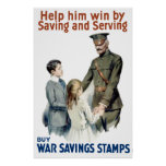 General Pershing - Buy War Saving Stamps Poster