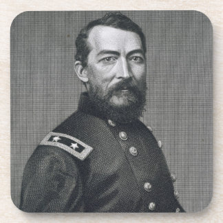 General Philip Sheridan, engraved from a photograp Coaster