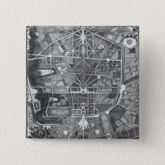 General plan of the town and Chateau of 15 Cm Square Badge